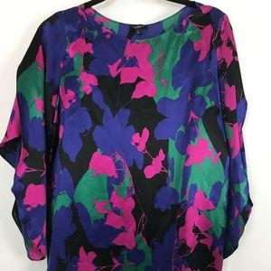 Talbots Womens Silk Blouse Flutter Sleeve Size 6